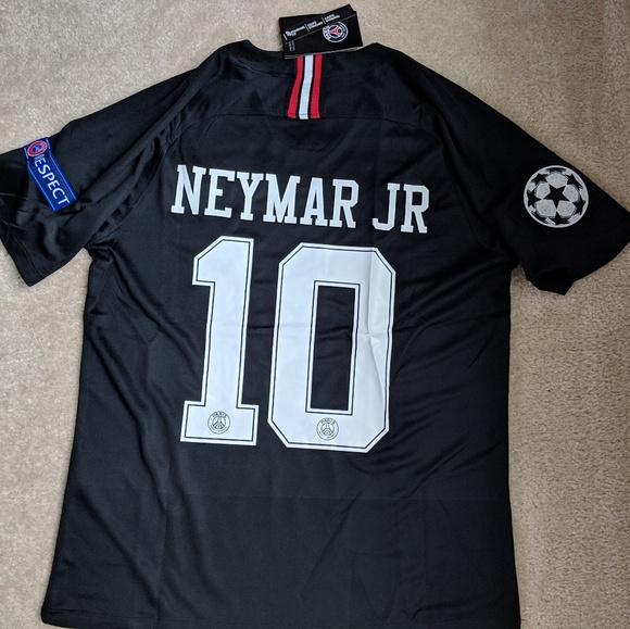 uk availability 6e4e4 1bc1b PSG Black Neymar Jr. Jersey Size Small NWT